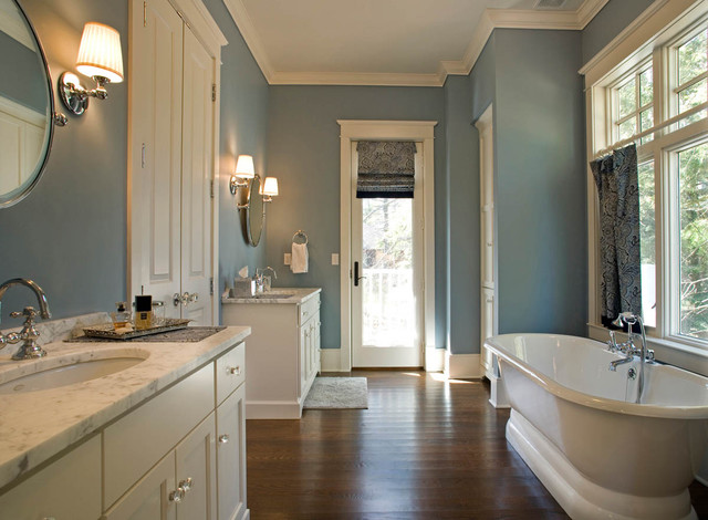The boland home traditional bathroom milwaukee by mitch wise design inc - Exterior paint in bathroom set ...