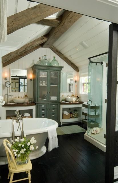 The Charming White Cottage Down By Sea Naples Florida Farmhouse Bathroom