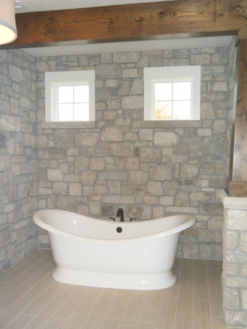 The Cottage on the lake traditional-bathroom