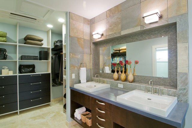 The epicurean suite for Closet bathroom suites