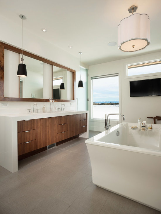 Contemporary bathroom vanities home design photos decor for Bathroom cabinets townsville