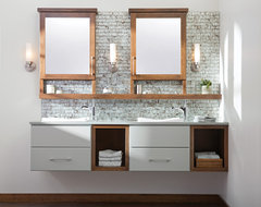 The Future of Floating Bathroom Vanities contemporary-bathroom