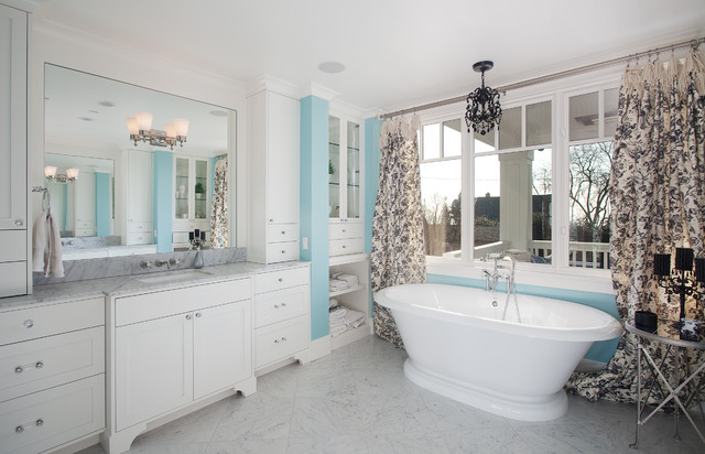 The Gambrel Roof Home traditional-bathroom