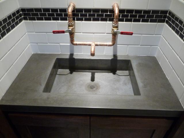 The Quot Garage Quot Bar Concrete Sink Modern Bathroom Salt