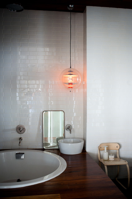 The Glass Farmhouse Loft Industrial Bathroom Other