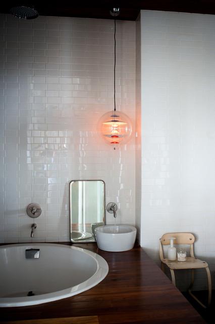 The Glass Farmhouse Loft Industrial Bathroom Other