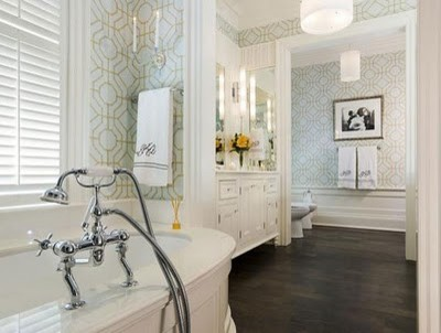 The Great Gatsby traditional bathroom