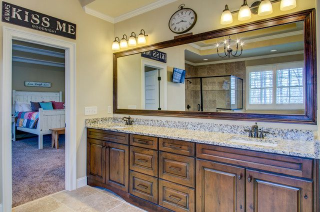 The greenwich traditional bathroom raleigh by for Collins design build
