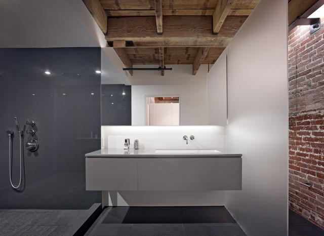 The huot residence in the oriental warehouse modern for Builders bathroom warehouse