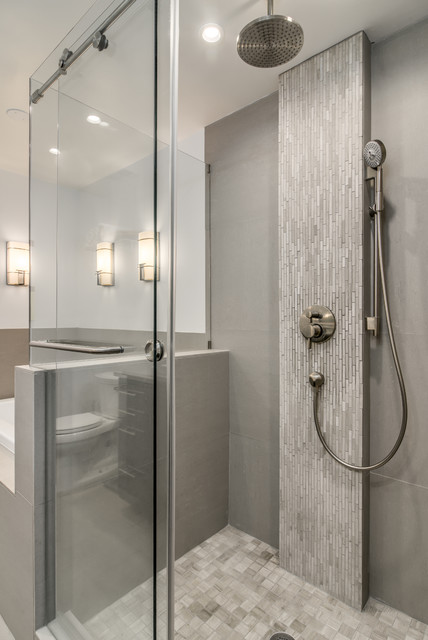 The hutton hotel comes home modern bathroom for Bath remodel nashville