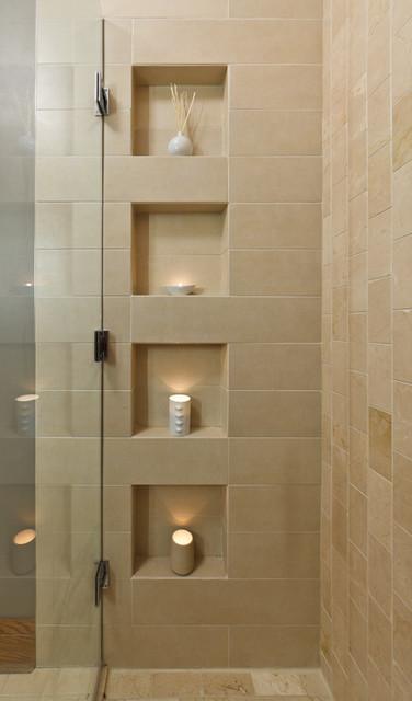 The maid 39 s bath contemporary bathroom chicago by - Douche avec niche ...