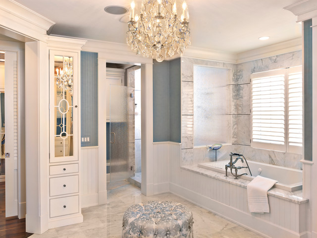 The milkey master bathroom by luxury home builders tampa for Pictures of master bathrooms in new homes