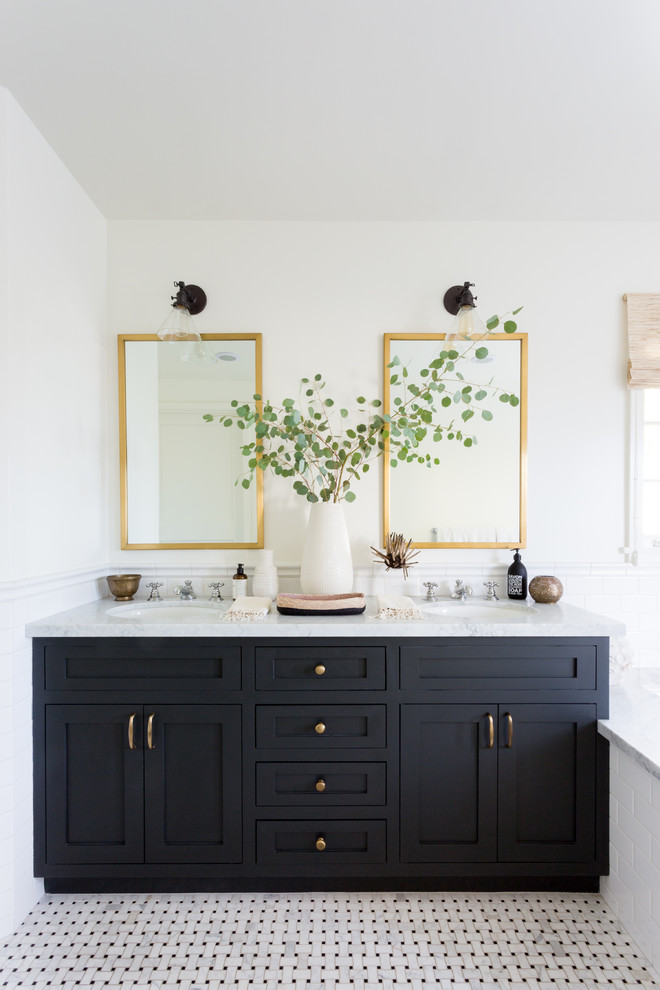 The Miller Drive Project Transitional Bathroom Los Angeles