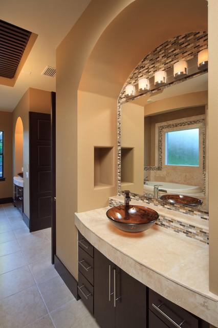 The Modern Mediterranean Home Contemporary Bathroom