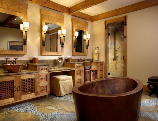 The Mountain Bath Rustic Bathroom Miami By Zabala