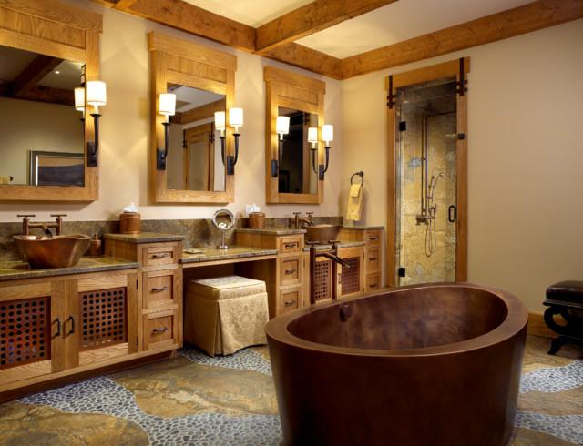 The Mountain Bath Rustic Bathroom Miami By Zabala