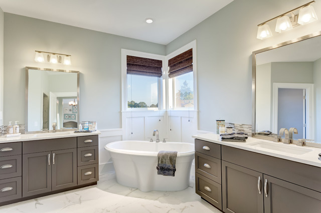 The Nantucket Show Home - Traditional - Bathroom - vancouver - by Axiom Luxury Homes