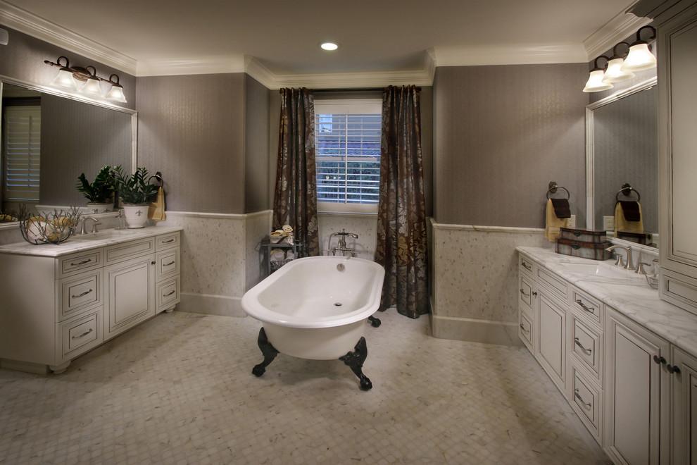Inspiration for a mediterranean bathroom remodel in Denver