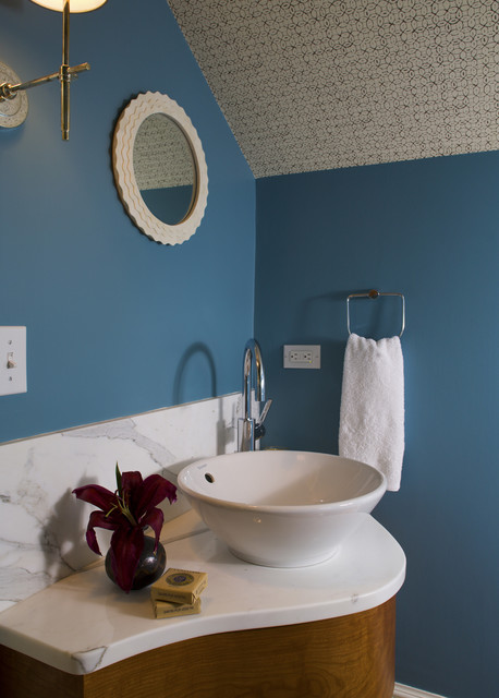 The Passage beach-style-bathroom