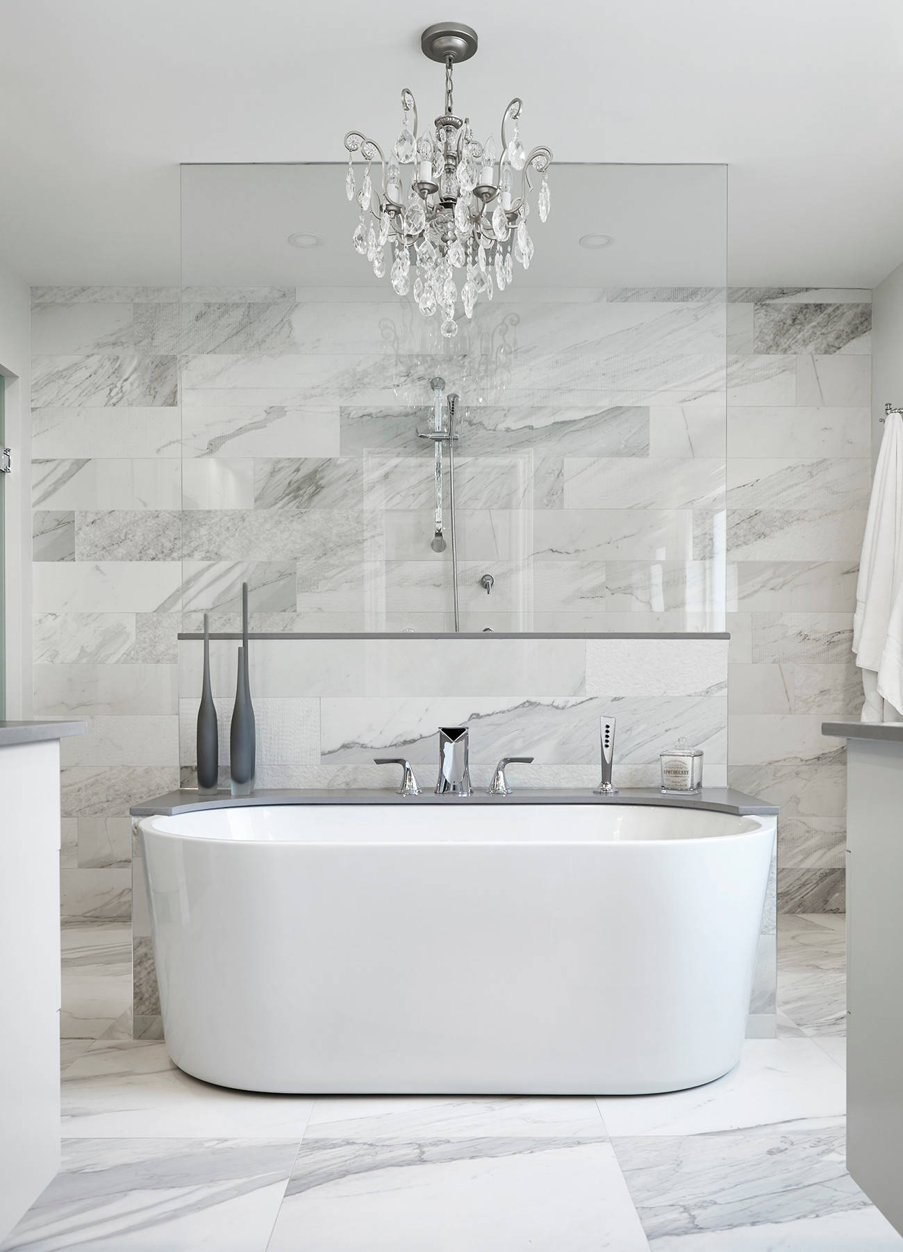 75 Beautiful Marble Tile Walk In Shower Pictures Ideas December 2020 Houzz