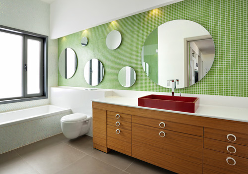 Modern residential interior: 6 color ideas for Interiors (PART II) contemporary bathroom