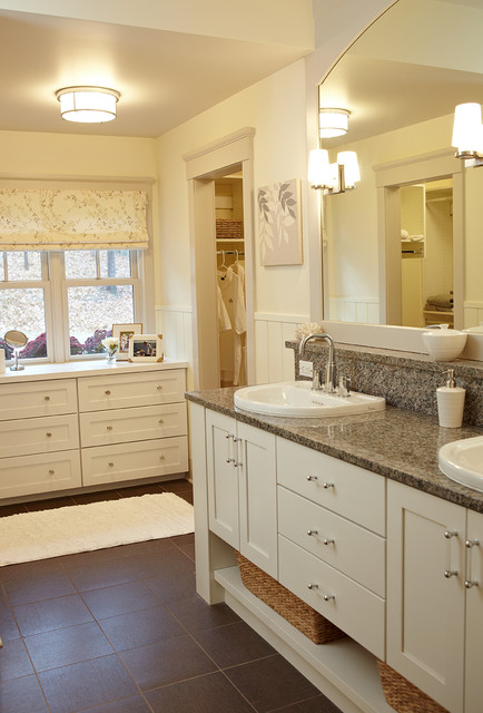 The pentwater cottage farmhouse bathroom grand for Bathroom cabinets grand rapids mi