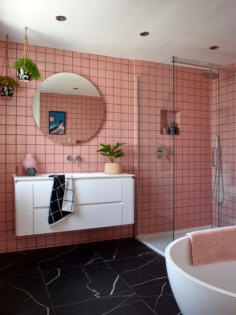 The Pink and Blue Bedroom - Contemporary - Bathroom - London ...