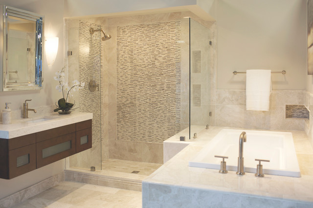 The Queen Beige Marble Collection Bathroom Minneapolis