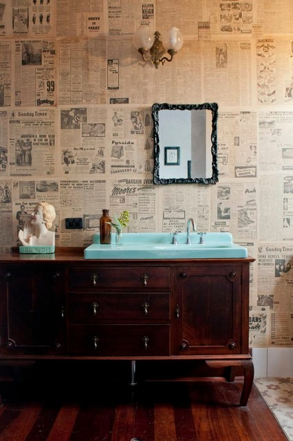 Lovely Eclectic Bathroom by Etica Studio