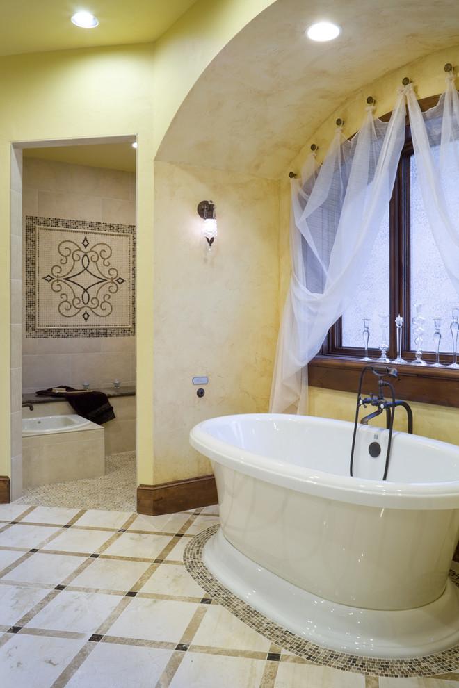 Freestanding bathtub - traditional freestanding bathtub idea in Portland