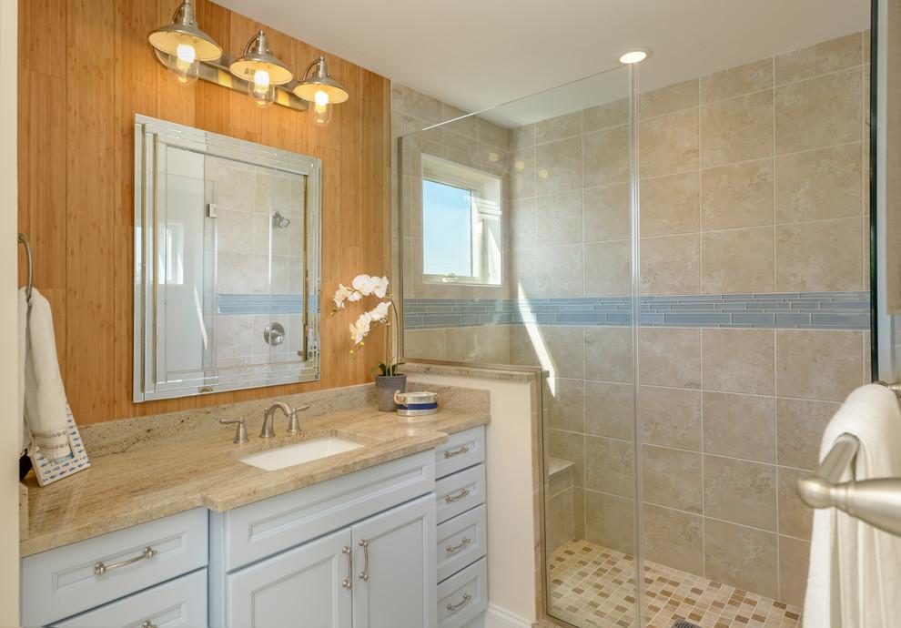 Bathroom - coastal bathroom idea in Other