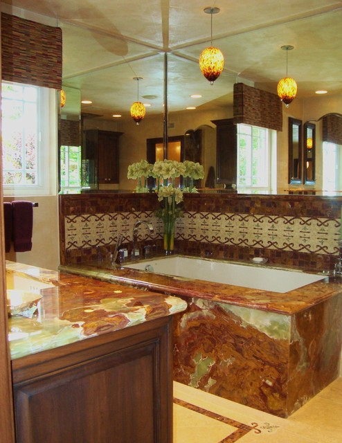 Onyx Granite master bath contemporary bathroom