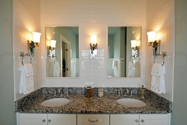 The seaside model home patchen wilkes contemporary for Model home bathroom photos