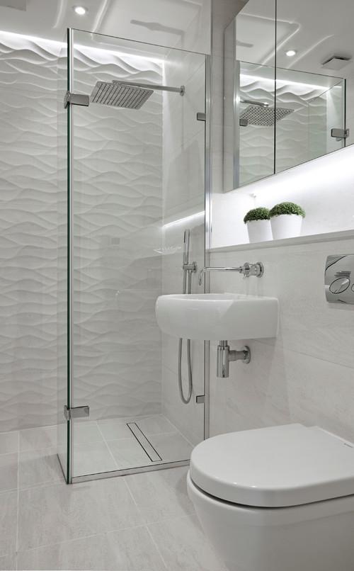 Dusche im Gästebad: 9 raumsparende Lösungen
