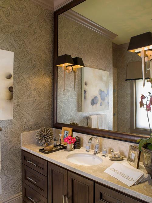 Eclectic Bathroom by San Francisco Interior Designers & Decorators Brian Dittmar Design, Inc.