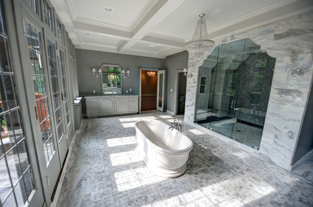 The Tempesta Neve Marble Collection Traditional
