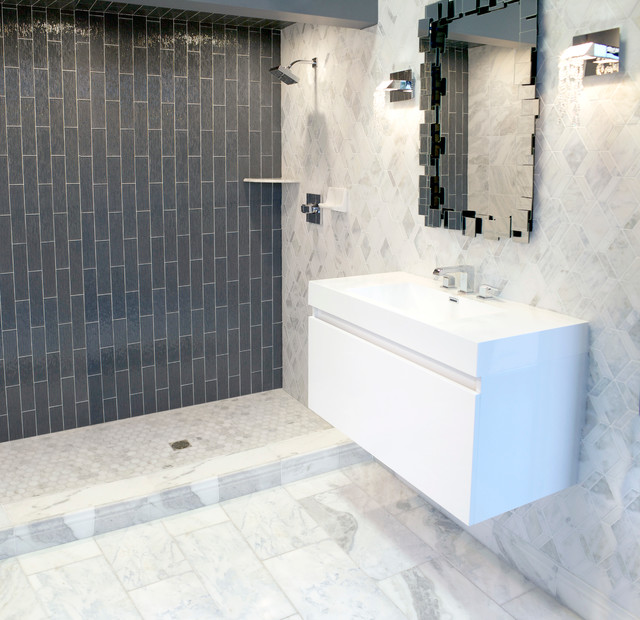 The Tempesta Neve Marble Collection Traditional Bathroom Custom Bathroom Remodel Minneapolis Collection
