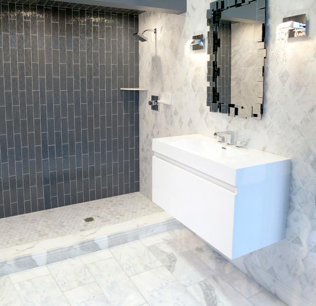 Polish Bathroom Tile: The Tempesta Neve Marble Collection