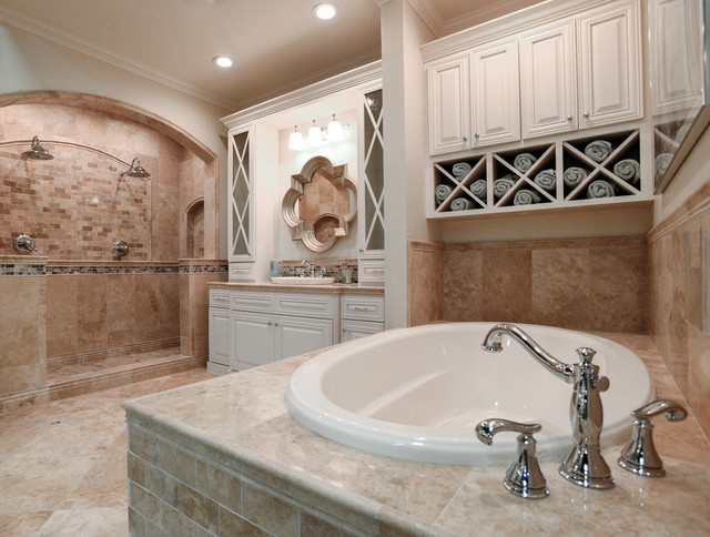 The Tile Shop\'s Bucak Travertine Collection - Traditional - Bathroom ...