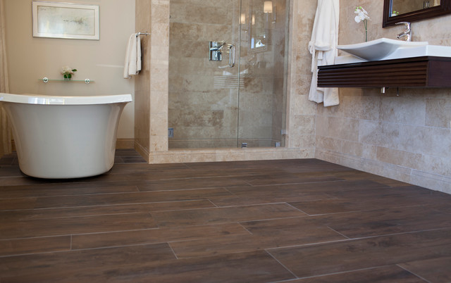 wood tile bathroom. The Tile Shop s Faux Wood Collections bathroom  Bathroom