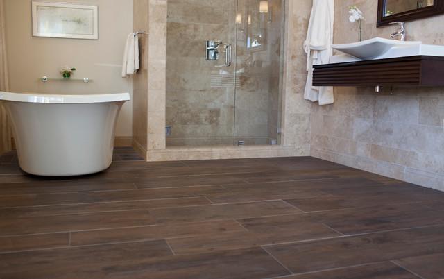 The Tile Shop S Faux Wood Tile Collections Bathroom