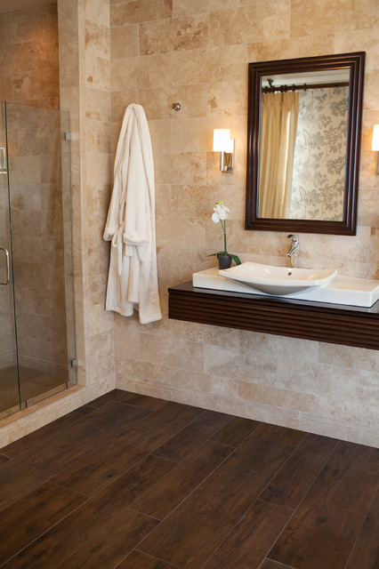 The Tile Shops Faux Wood Tile Collections Bathroom Minneapolis