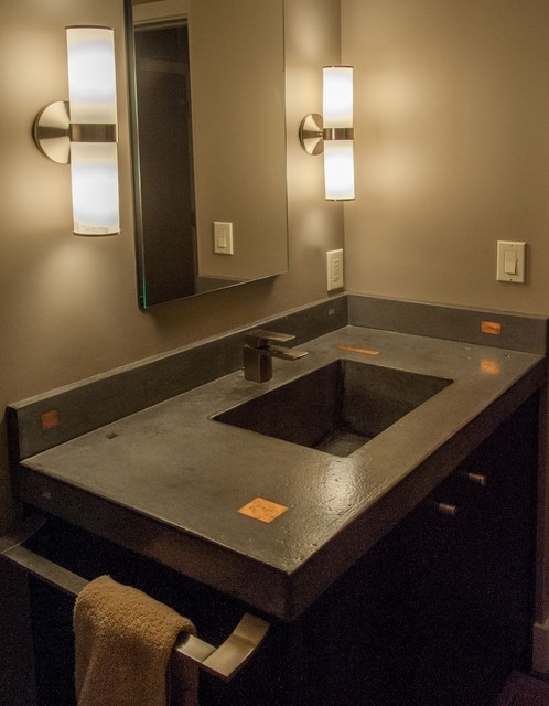 The Ultlimate Man Cave Bath Contemporary Bathroom