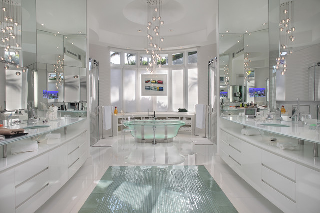 The White House Contemporary Bathroom Miami By Boca Tech And Automation Houzz