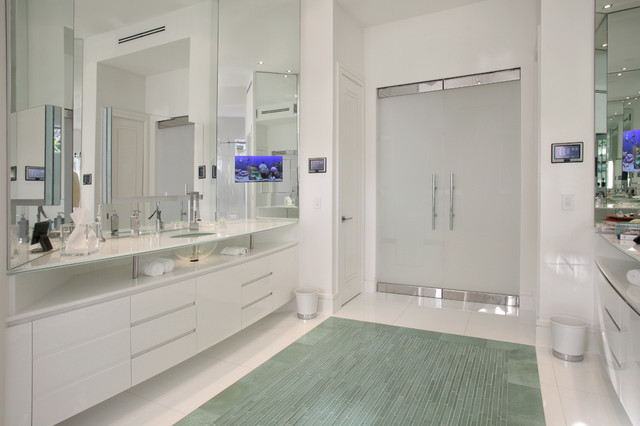 The White House Contemporary Bathroom Miami By