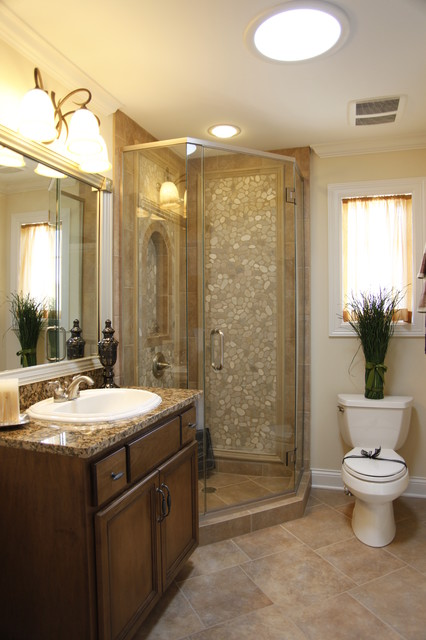 The wyndermere model home traditional bathroom for Model home bathroom photos