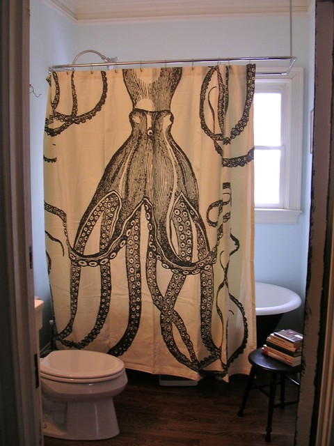 Thomas Paul Octopus Shower Curtain Eclectic Bathroom