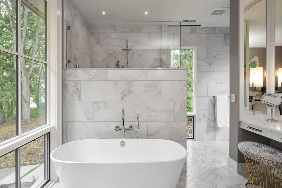 Thornapple River Renovation - Transitional - Bathroom ...
