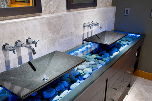 Wondering What Company Did This Gl Countertop Love The Look