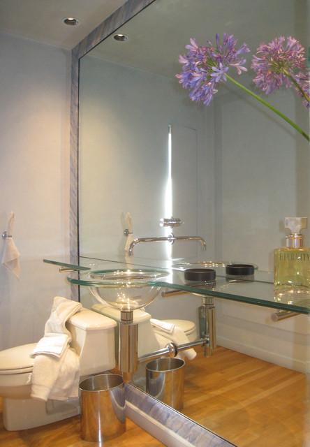 Tiburon Bath, Fireplance and Bar. contemporary-bathroom